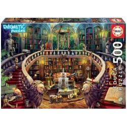 Casse-tête 500 pièces Mystérieux - Educa - Vieille bibliothèque