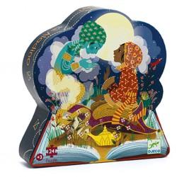 Djeco - Casse-tête silhouette 24 mcx - Aladin