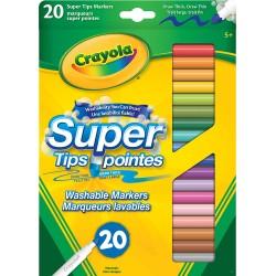 Crayola - 20 marqueurs à trait fin