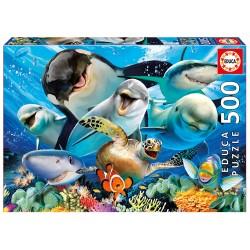 Casse-tête 500 pièces - Educa - Selfie sous la mer