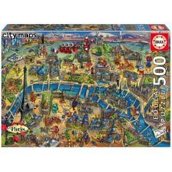 Casse-tête 500 pièces - Educa - Plan de Londres