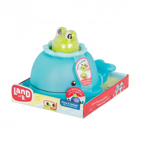 """Land of B. - Baleine """"Glow & Splash"""" avec grenouille"""