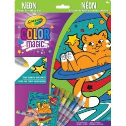 Color Magic Ensemble Feuilles et marqueurs Néon - Chats cosmiques
