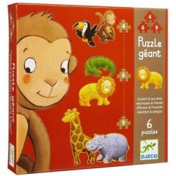 Djeco - Puzzle géant 4 à 9 mcx - Ouistiti