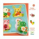 Djeco - Puzzle de bois - Croc-Carrot