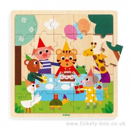 Djeco - Puzzle en bois - Happy