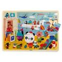 Djeco - Puzzle en bois - Aéroport