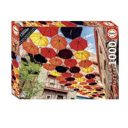 Casse-tête 1000 pièces - Parapluies, Petit-Champlain, Québec