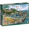 Puzzle 1000 pièces - Falcon - Newquay Harbour