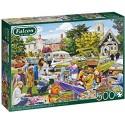 Puzzle 500 pièces - Falcon - Village church car boot sale 11301