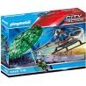 Playmobil 70569 - Hélicoptère de police et parachutiste