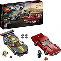 Lego 76903 - Speed Champions - Chevrolet Corvette C8.R Race Car et 1968 Chevrolet Corvette