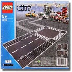 Lego 7280 - City - Straight and Crossroad