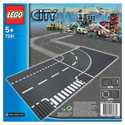 Lego 7281 - City - Carrefour et rails courbes