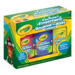 Crayola 0355 - Gouaches lavables au doigt