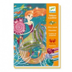 Djeco DJ09507 - Glitter boards - Mermaid lights