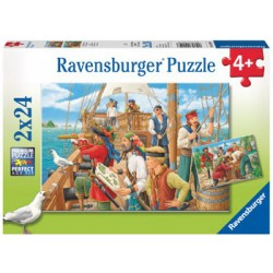 Ravensburger® 09019 - Children's Puzzle 2 x 24 pcs - With the Pirates
