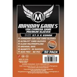 Mayday Games MDG-7078 - Protecteurs de cartes premium - 57.5 x 89mm