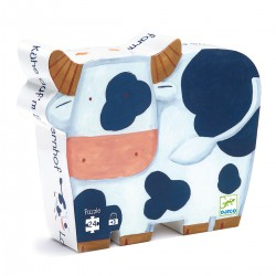 Djeco DJ07205 - Jigsaw puzzle 24 pcs - The cows on the farm