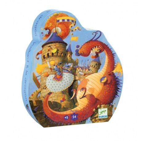 Djeco DJ07256 - Casse-tête 54 mcx - Vaillant et le dragon