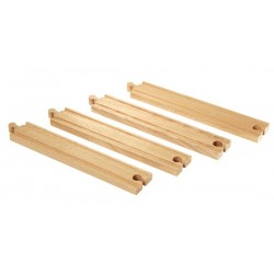 Brio World 33341 - Rails droits longs - 216 mm